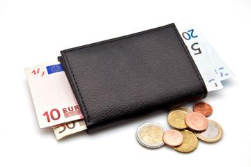 cartera con euros