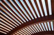 canvas print picture - Architektonische Konstruktion aus Holzlatten