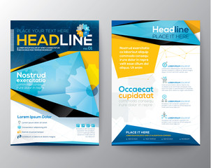Abstract design template layout for magazine flyer brochure
