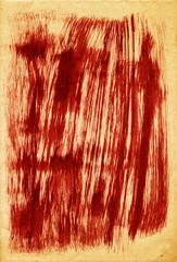 dark red brush strokes on paper texture