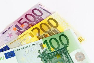 Aufgefächerte Euro Geldscheine