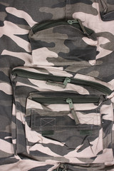 close-up full pocket  camoflage pants
