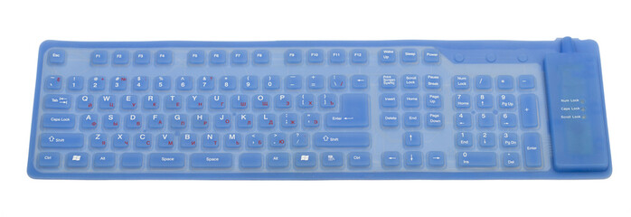 keyboard on the white background