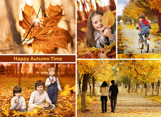 autumn time collage  landscape