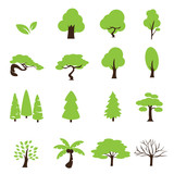 trees icon set - 70038407
