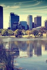 Perth, Australia. Cross processed color tone.