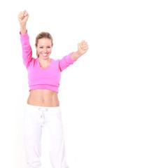 motivierte Sportlerin