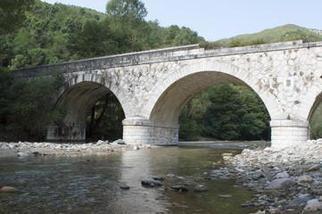 River side stone bridge