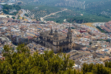 Jaén Cathedral, aerial view