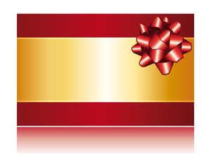 Gift certificate or christmas card.