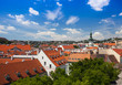 old downtown Bratislava in the sunny summer day