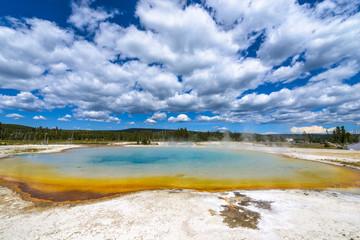 Sunset Lake Thermal Pool Yellowstone