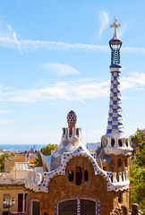Views from the Parc Guell , Barcelona, Spain.