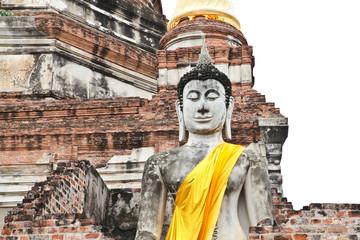 Buddha statue of Wat Yai Chai Mongkol in Ayutthaya, Thailand