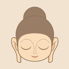 Buddha statue head