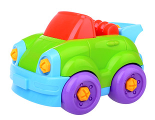Plastic constructor car