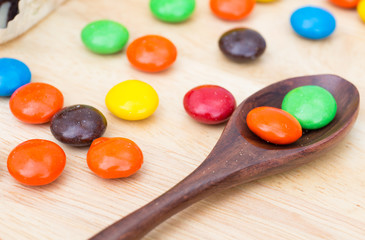 sugar coated chocolate