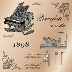 Pianoforte a coda 1898 - Italy