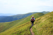 Summer trekking in the Carpathians.