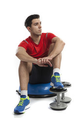 weight exercise on bosu ball
