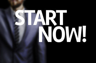 Start Now written on a board