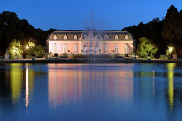 Benrath Palace in Dusseldorf at evening, Germany