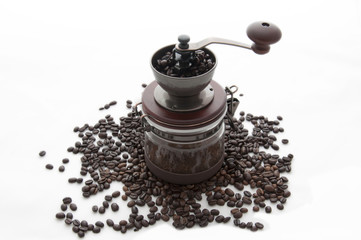Classic Coffee grinder with coffee beans