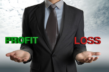 businessman with Profit and Loss investment