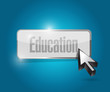 education button illustration design