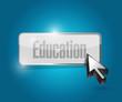 education button illustration design