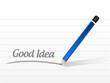 good idea message illustration design