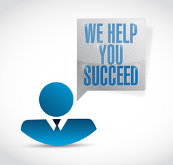 we help you succeed avatar message illustration