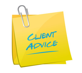client advice memo post illustration design
