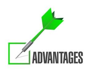 check mark advantages illustration design
