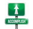 accomplish sign illustration design