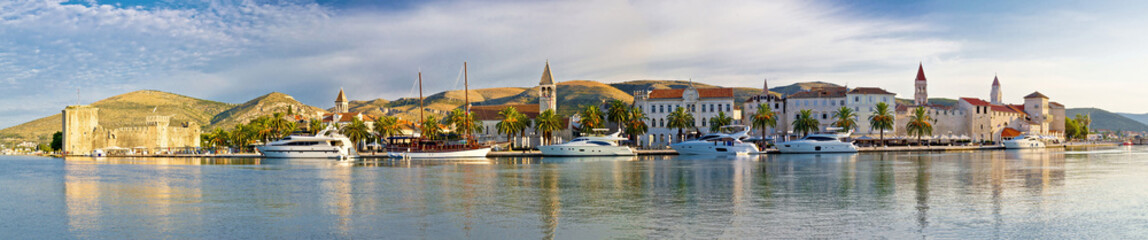 Trogir UNESCO world heritage site panoramic