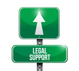 legal support sign illustration design