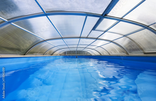 Outdoor swimming pool with a shelter | Buy Photos | AP Images ...