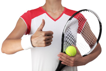 female tennis player doing the okay sign