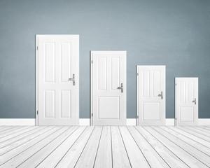 Empty Room / Wooden Floor with Doors