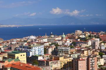 Przepiękna malownicza panorama Neapolu we Włoszech