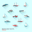Boats icons set - 70044409