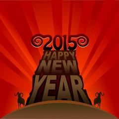 Fresh new year of goat 2015
