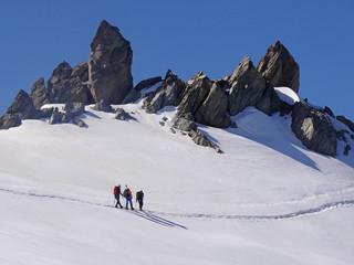 Alpinisme dans le Massif du mont Blanc (col de la Bérangère)