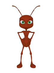 cartoon ant 3d