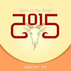 The year of goat (Cream background)