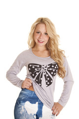 pants tops polka dot bow