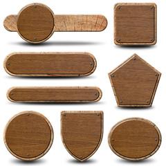 8 plaques rustiques - Texture bois