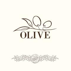 Olive label.