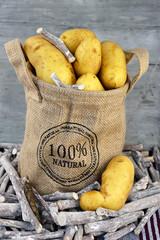 Natuurlijke biologische aardappelen